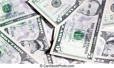Background of dollar bills. UltraHD video of money background