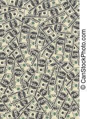 background of dollars average