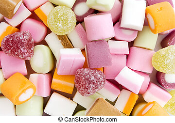 Background of dolly mixture sweets - Background of colorful...