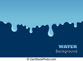 Background of dribble blue liquid. - Background of dribble...