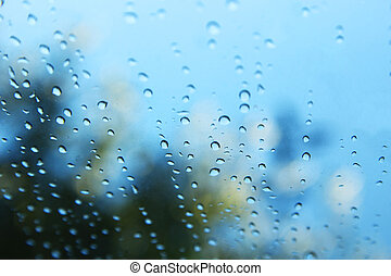 background of drops on glass