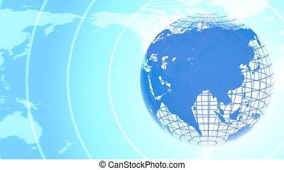 Background of Earth Telecommunicati - Rotating earth globe...