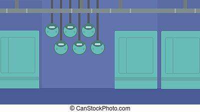 Background of electric switchboard vector flat design illustration. Horizontal layout.