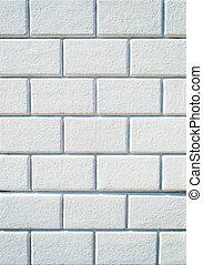 Background of empty white brick wall