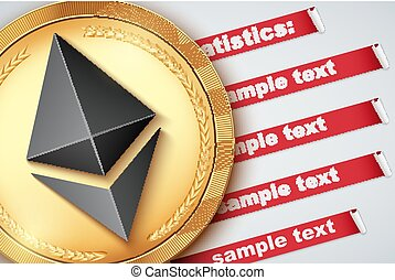 Background of Ethereum Infographic. Knowledge and...