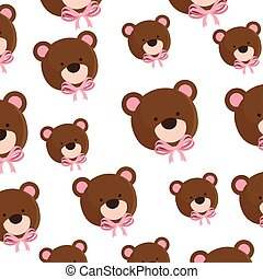 background of faces cute teddy bears
