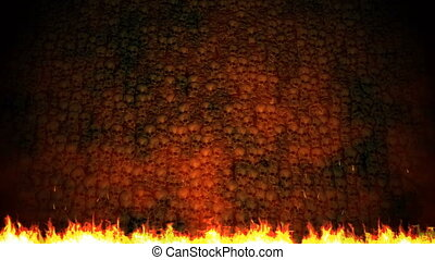 Background of fire particles