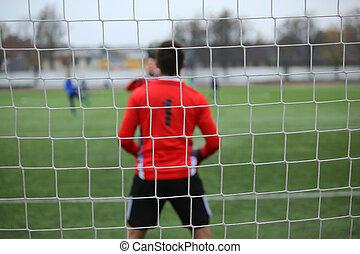 background of football goalkeeper