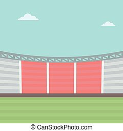 Background of football stadium.