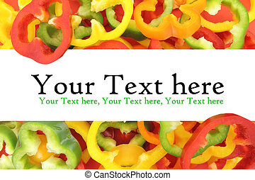 Background of fresh sliced peppers