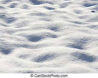background of fresh snow close up