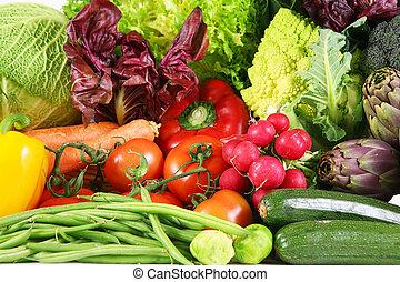 background of fresh vegetables