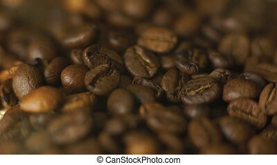 Background of fume coffee beans in 4K