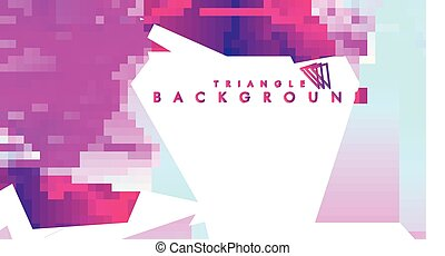 Background of geometric shapes. Colorful triangle pattern