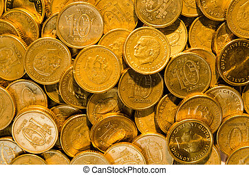 Background of golden coins