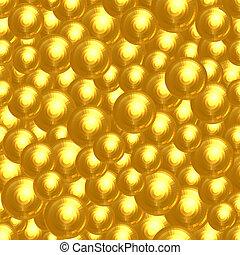 Background of golden faceted balls