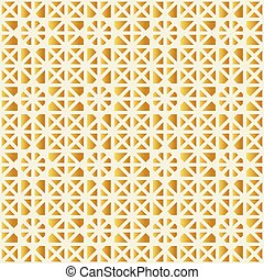 Background of golden polygons.