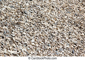 background of gravel rubble fractions