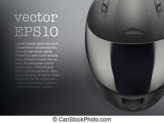 Background of gray motorcycle helmet vector