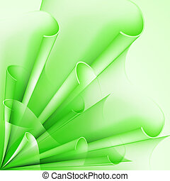 Background of green flags