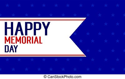 Background of happy memorial day