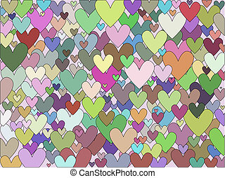 Background of hearts