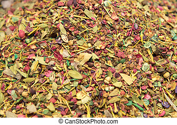 background of herb and spice mixture