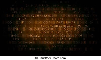 Background of hexadecimal code. Background of brown color.