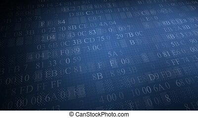 background of Hexadecimal Code. Blue code - Blue code....