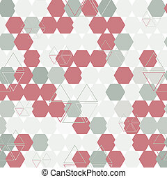 background of hexagon and triangle