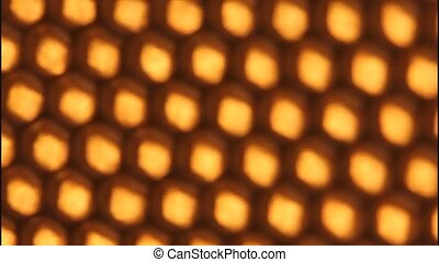 Background of honeycombs. - Turning the honeycomb front of...