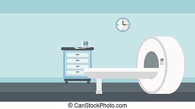 Background of hospital room with MRI machine. - Background...