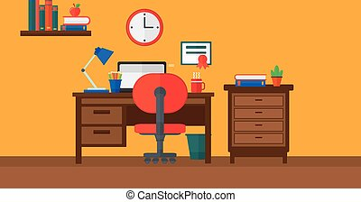 Background of interior of room for pupil. - Background of...