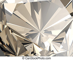 Background of jewelry gemstone. Facet. Cognac