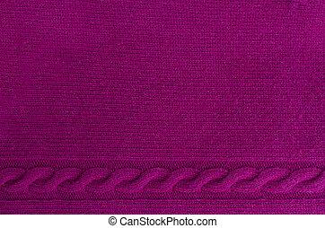 sweater texture - background of knitted woolen dark red...