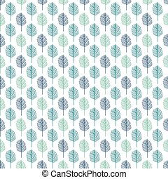 Background of leaves. Vector pattern. - Background of...