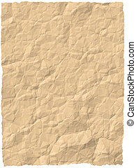 structured paper - Background of light brown crinkled and...