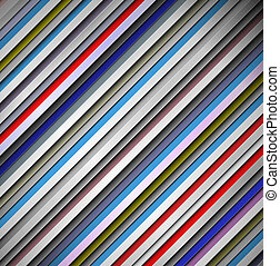 Background of lines - 3D background with colorful lines. Eps...