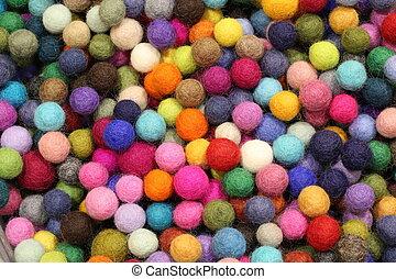 background of many balls