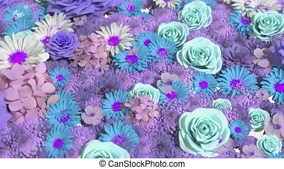 Background of many flowers