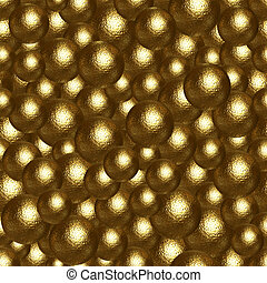 Background of many golden balls