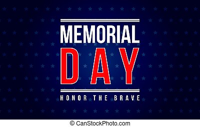 Background of memorial day vector illustration