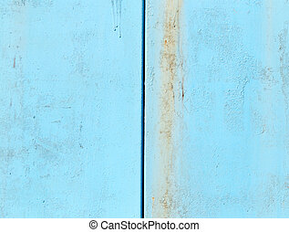 background of metal painted blue