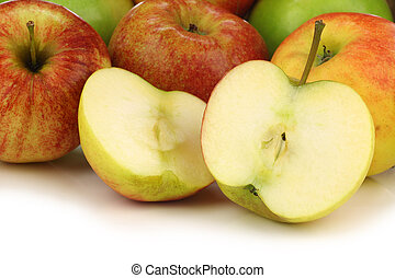 mixed fresh apples