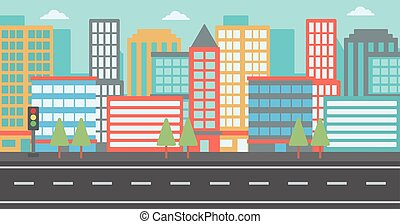 Background of modern city. - Background of modern city and a...