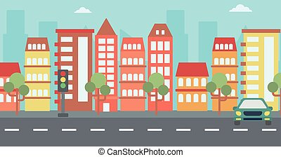 Background of modern city. - Background of modern city with...