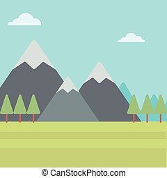 Background of mountain landscape. - Background of mountain...
