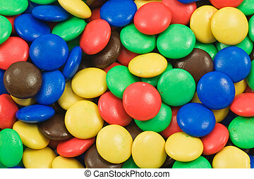background of multicolored candy