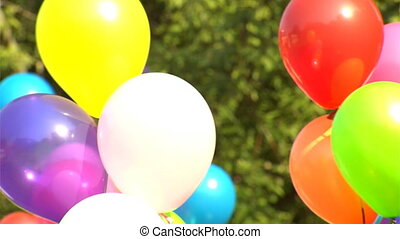 multicoloured balloons - background of multicoloured...