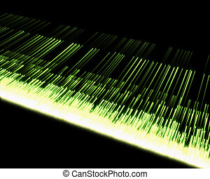 Background of multiple green lines - Black background with...